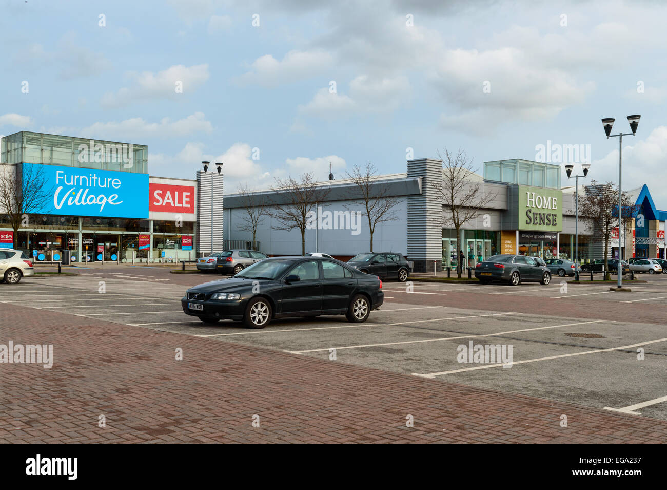 Furniture Village, and Home Sense stores at Castle Marina Retail Park, Castle Bridge Road, Nottingham, NG7 1GX, - Stock Image