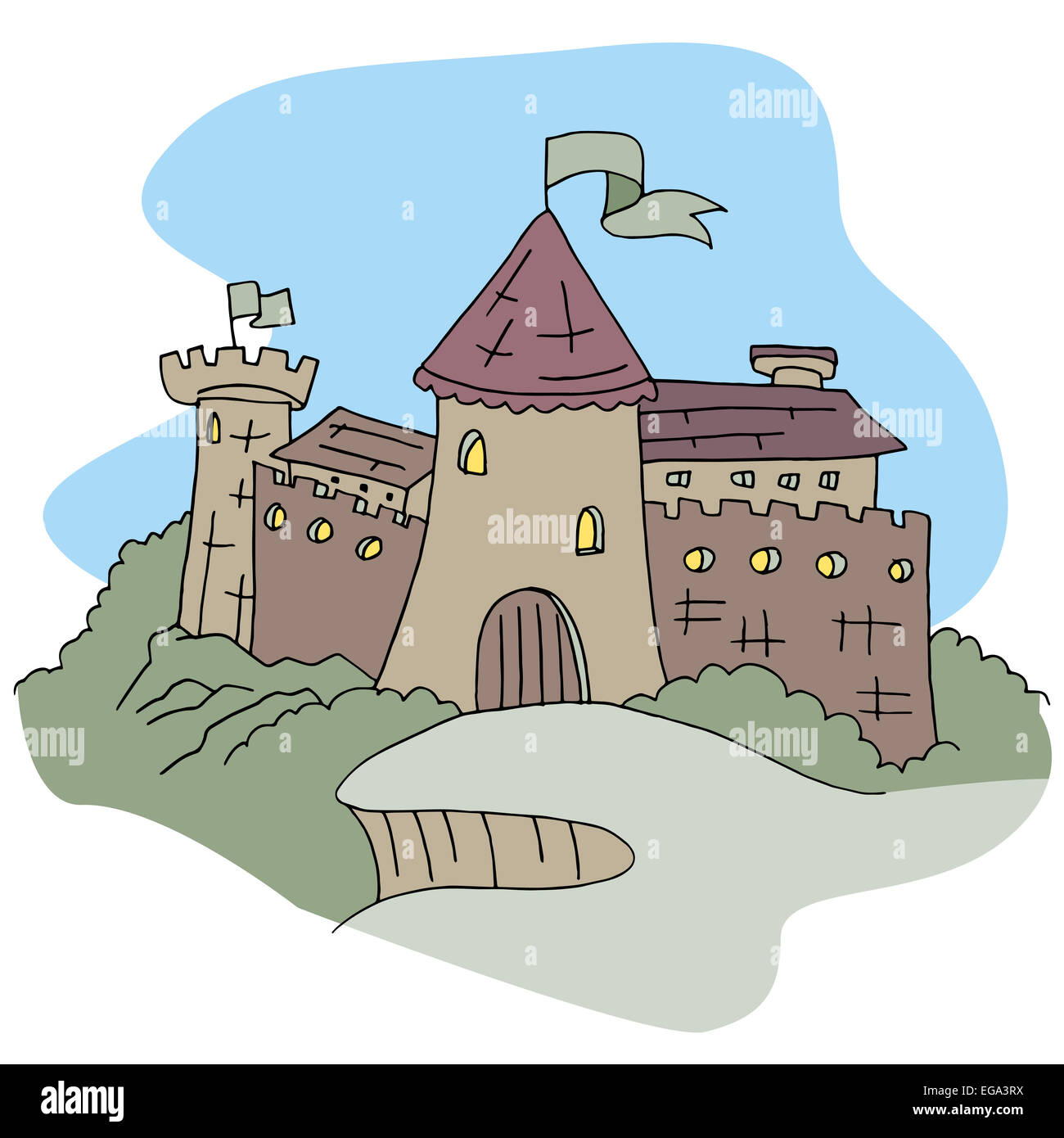 An image of a castle. - Stock Image