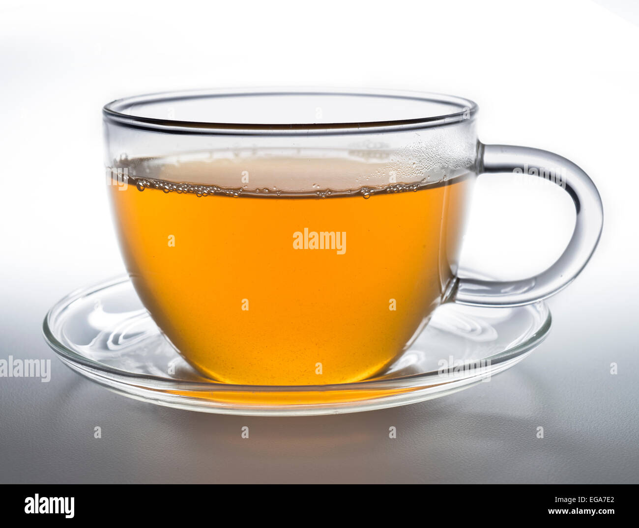 green tea cup - Stock Image