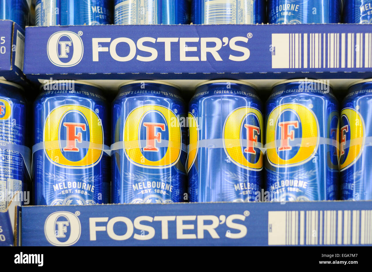 Alcohol For Sale In A Supermarket . - Stock Image