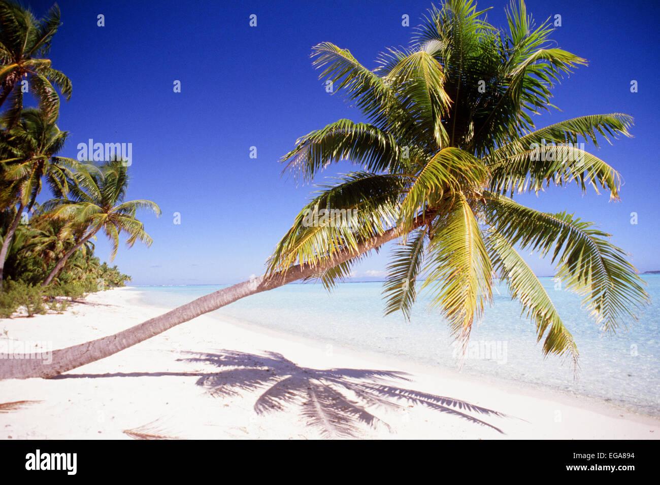 One Foot Island, Aitutaki, Cook Islands - Stock Image