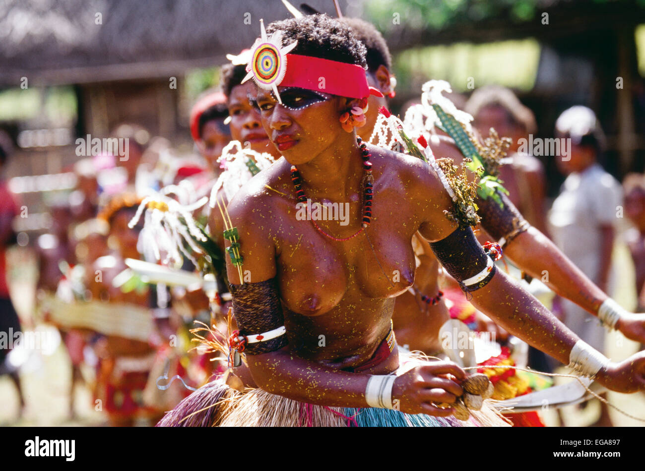 Kitava Island, Trobiand Islands, Papua New Guinea Stock Photo
