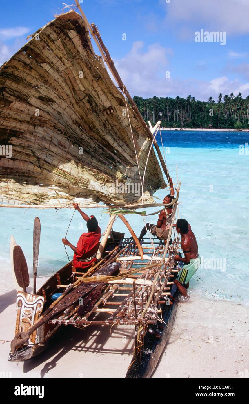 Kula Canoe, Kitava Island, Trobiand Islands, Papua New Guinea - Stock Image