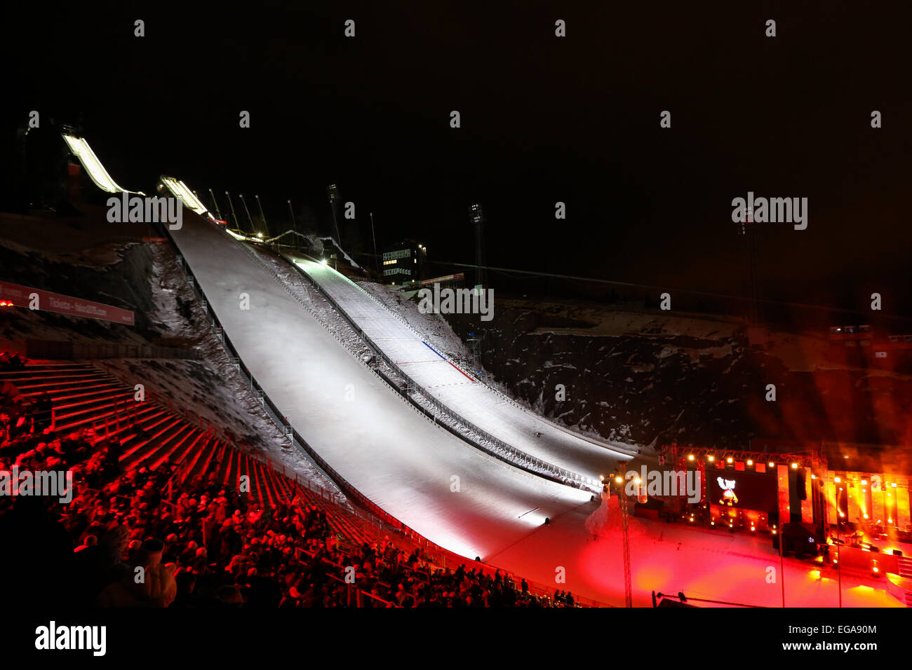 18.02.2015, Falun, Dalarna County, Sweden. FIS Nordic World Ski Championships, Championship opening ceremony highlights. - Stock Image