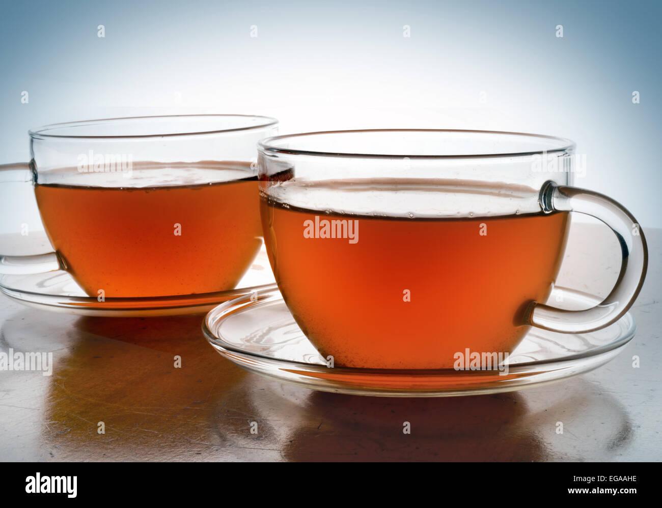 tea in cups - Stock Image