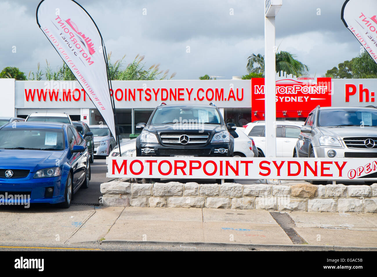 Motorpoint Sydney A Used Car Dealership Located On Parramatat Road In Stock Photo Alamy