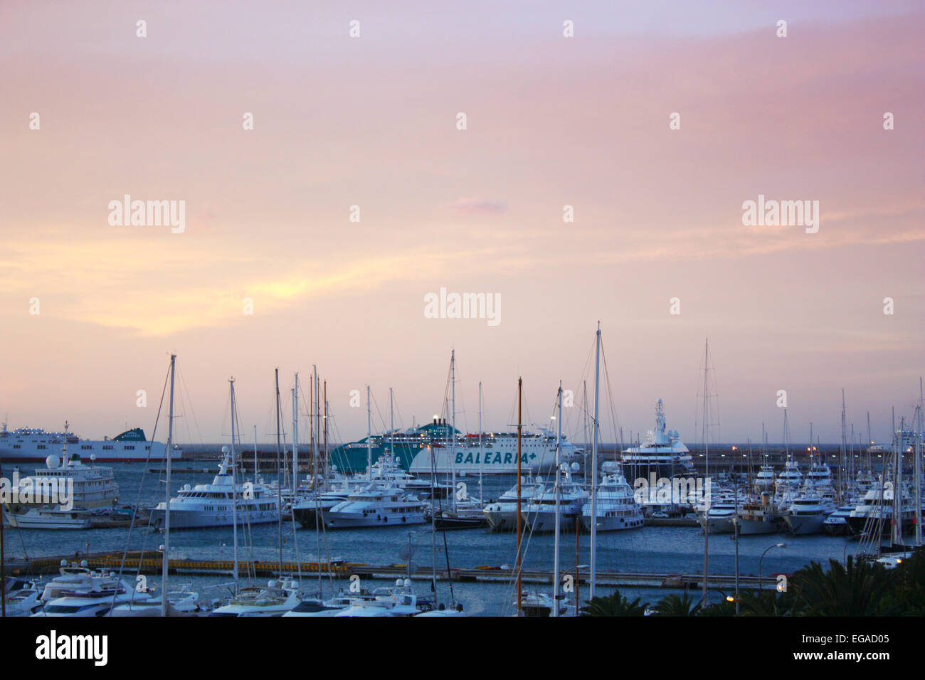 Sunrise in Palma De Mallorca Stock Photo