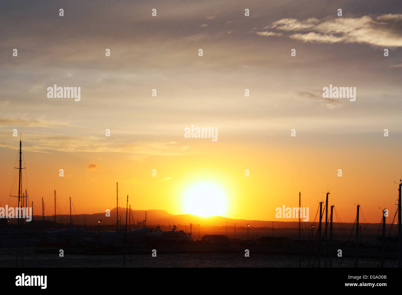 Beautiful sun shine at ocean Stock Photo