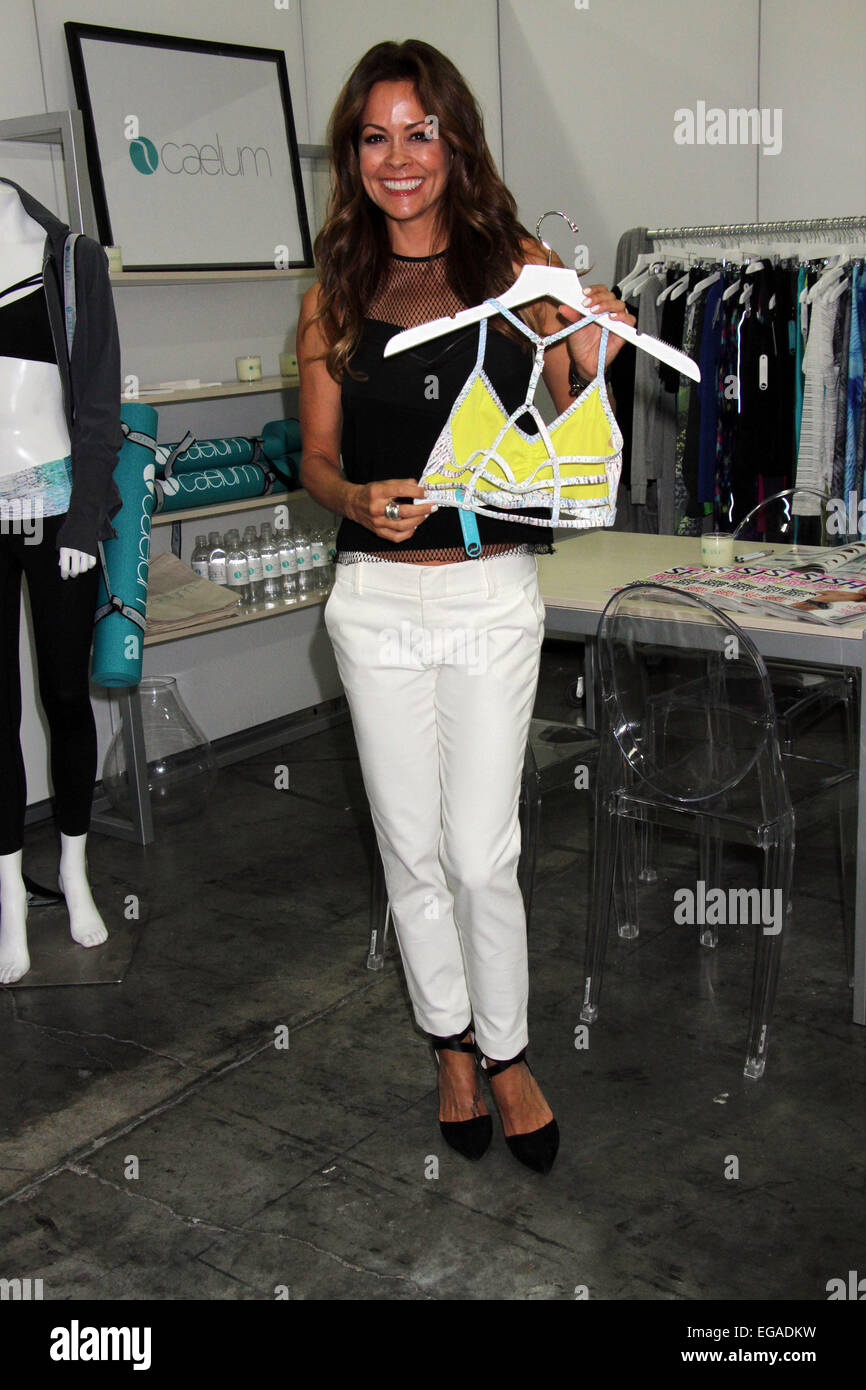 Brooke Burke-Charvet promotes her new fitness clothing line