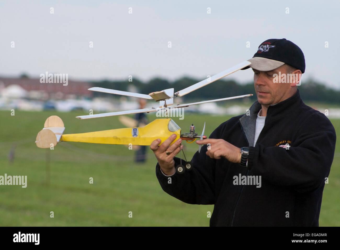Self propelled model plane - Stock Image