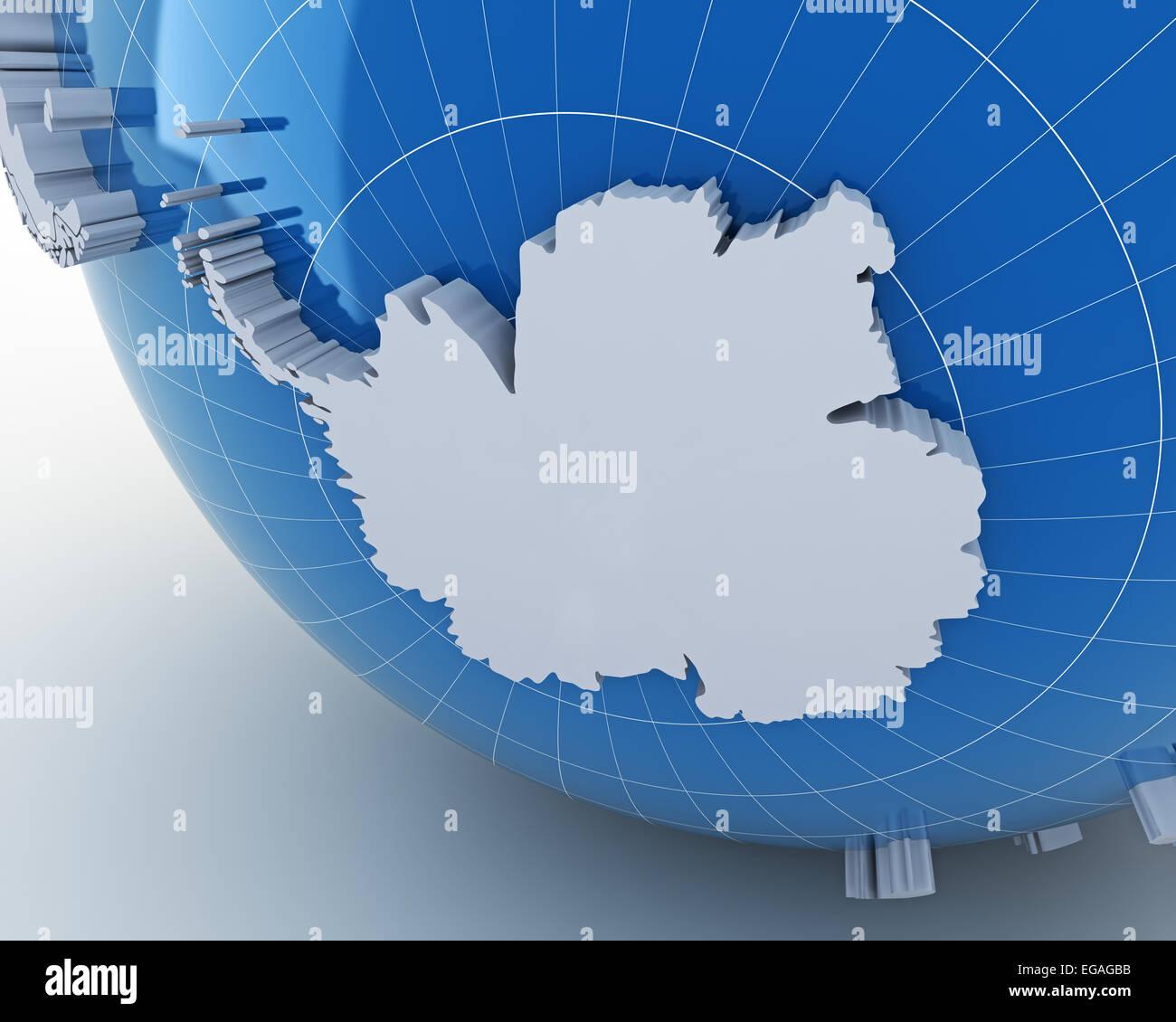 Globe antarctica earth world stock photos globe antarctica earth globe with antarctica 3d render stock image gumiabroncs Image collections
