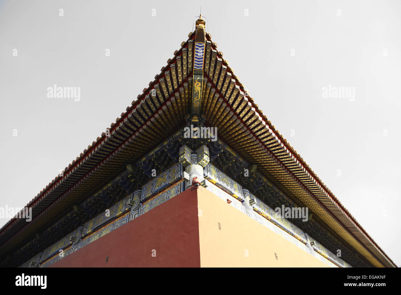 Chinese Traditional Pagoda Style Roof Building Stock