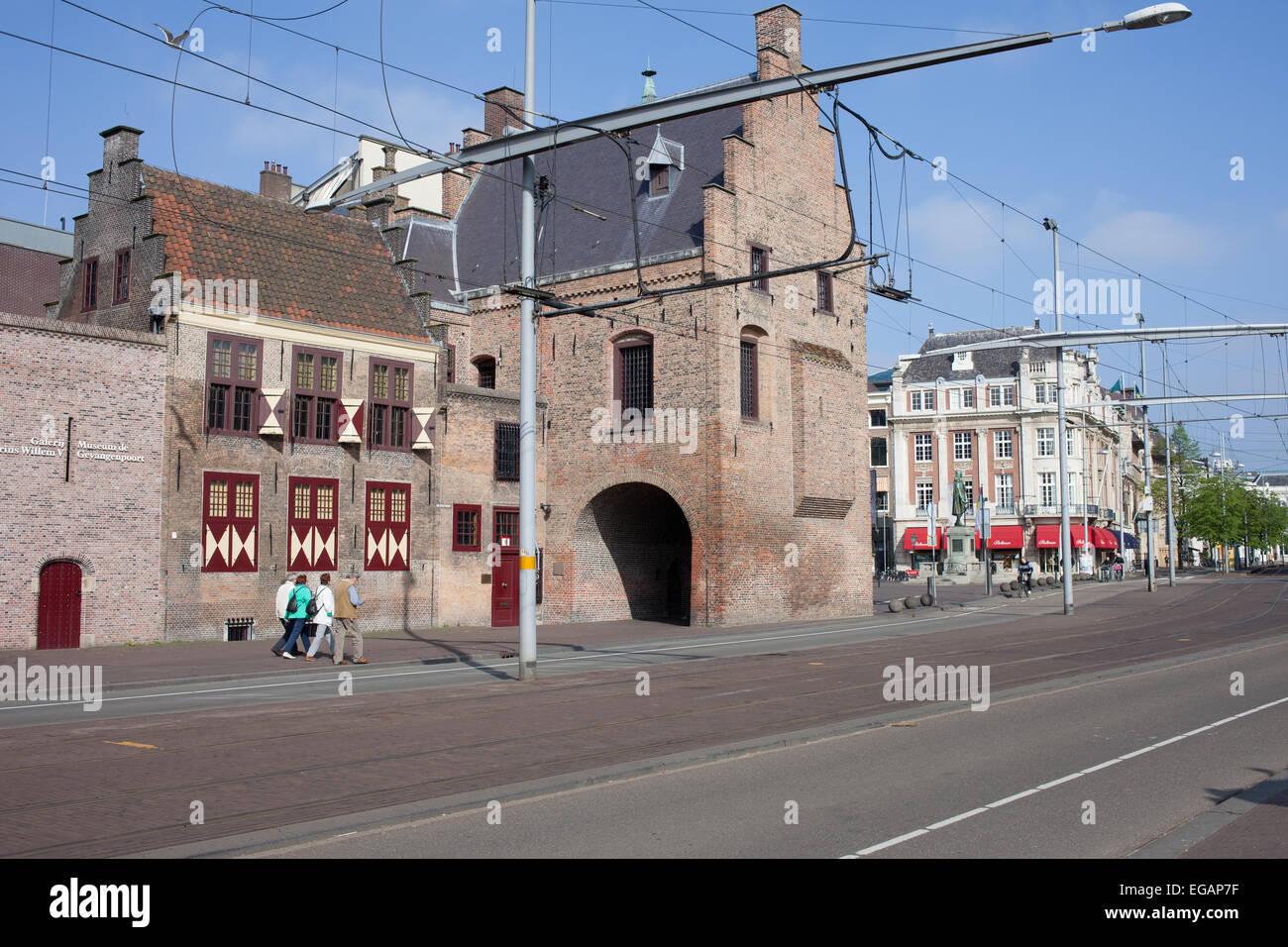Prison Gate Museum on Buitenhof, city of Hague (Den Haag), Holland, Netherlands. - Stock Image