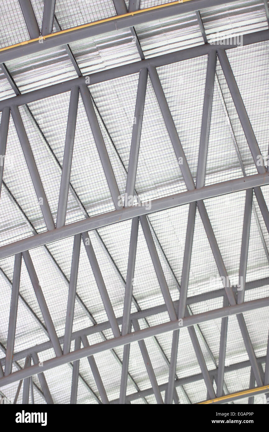 patterns of factory steel roof truss for business background stock image - Metal Roof Trusses