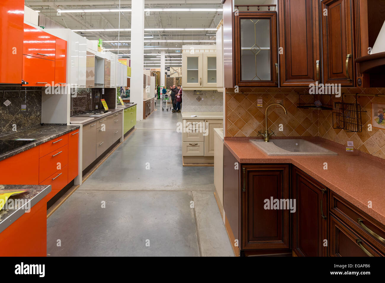 A Large French Kitchen Stock Photos A Large French Kitchen