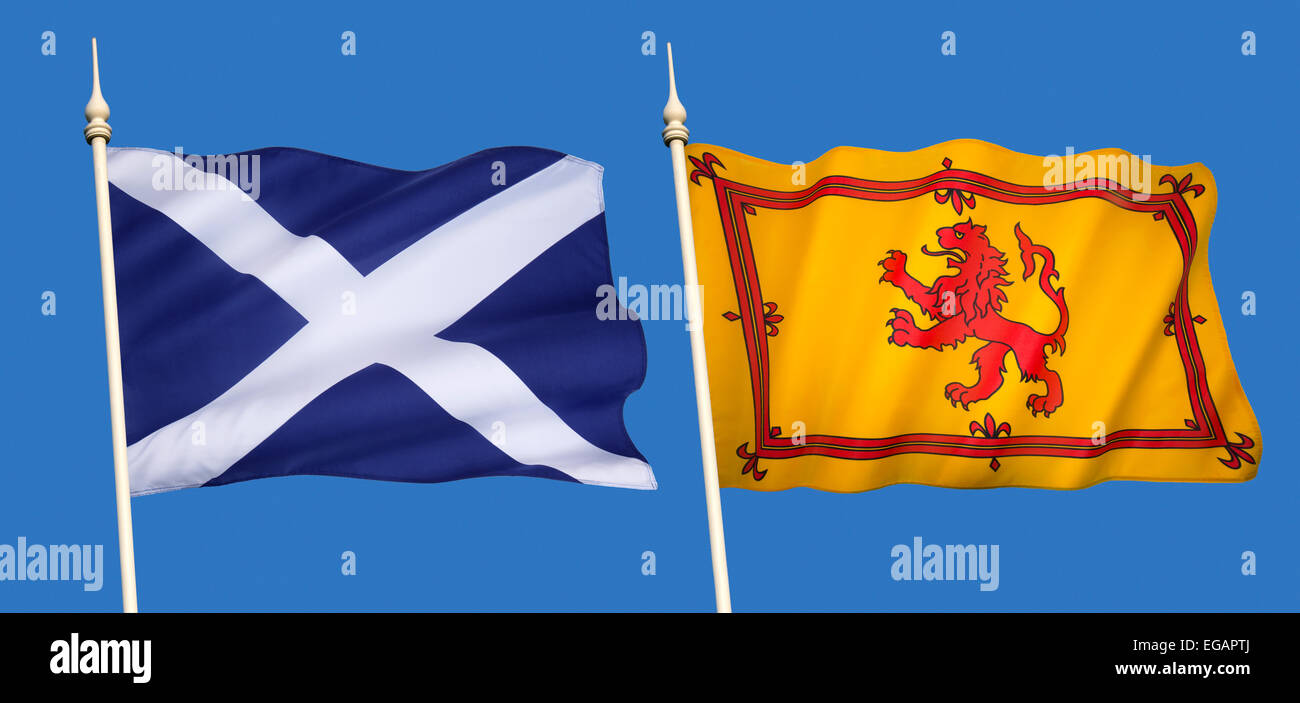 Scotland Flag High Resolution Stock Photography And Images Alamy