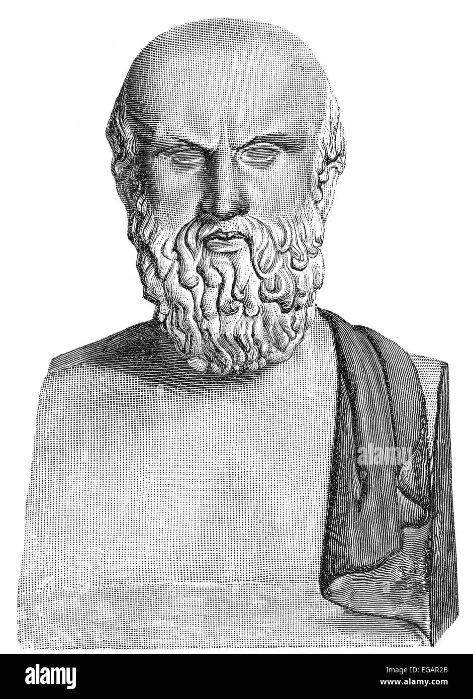 Aeschylus; c. 525/524 - c. 456/455 BC, an ancient Greek tragedian, Aischylos, Äschylus, oder Aeschylus, 525 v. Chr. Stock Photo