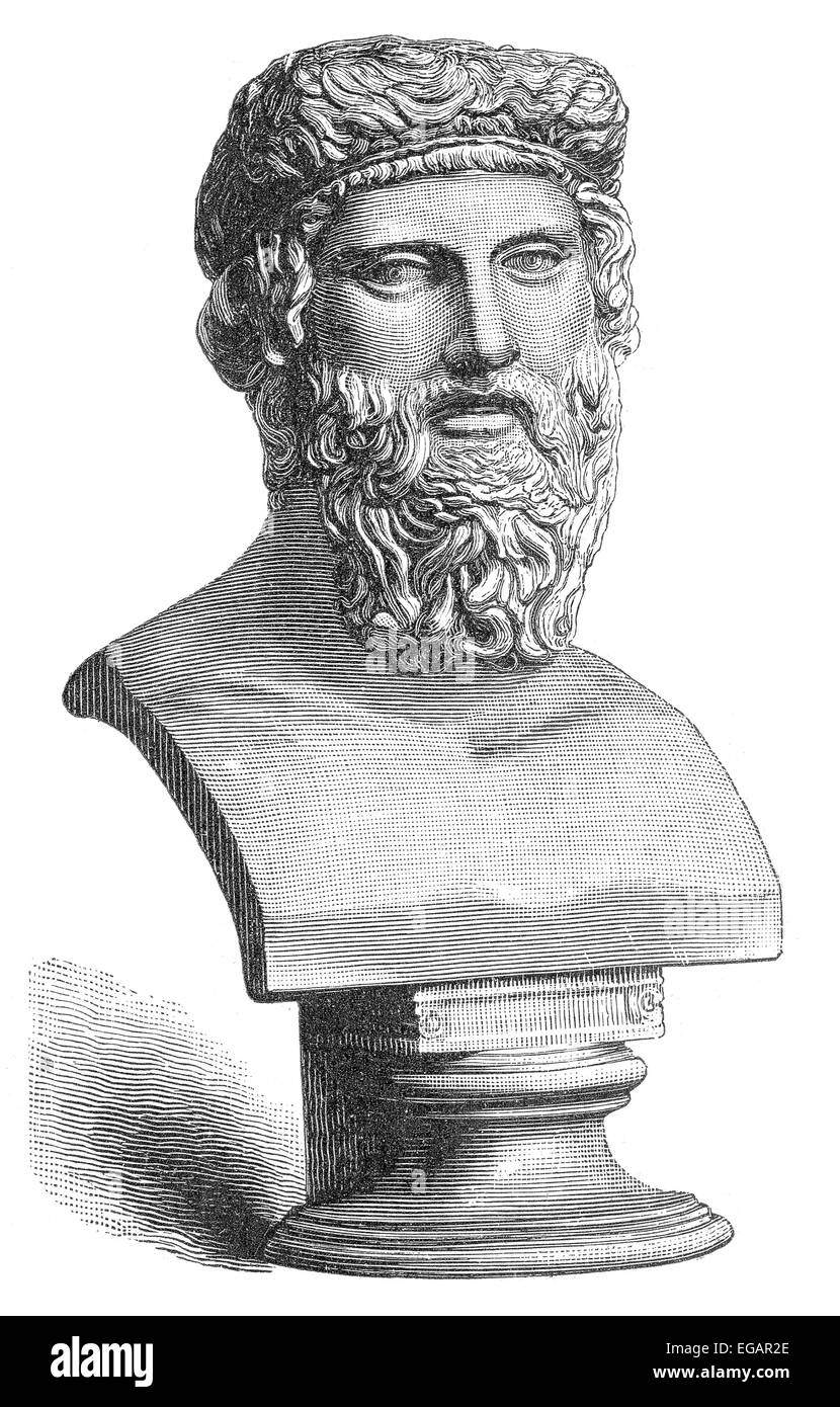 bust of Platon or Plato, 428 BC - 348 BC, an ancient Greek philosopher, Büste von Platon oder Plato, 428 v. - Stock Image