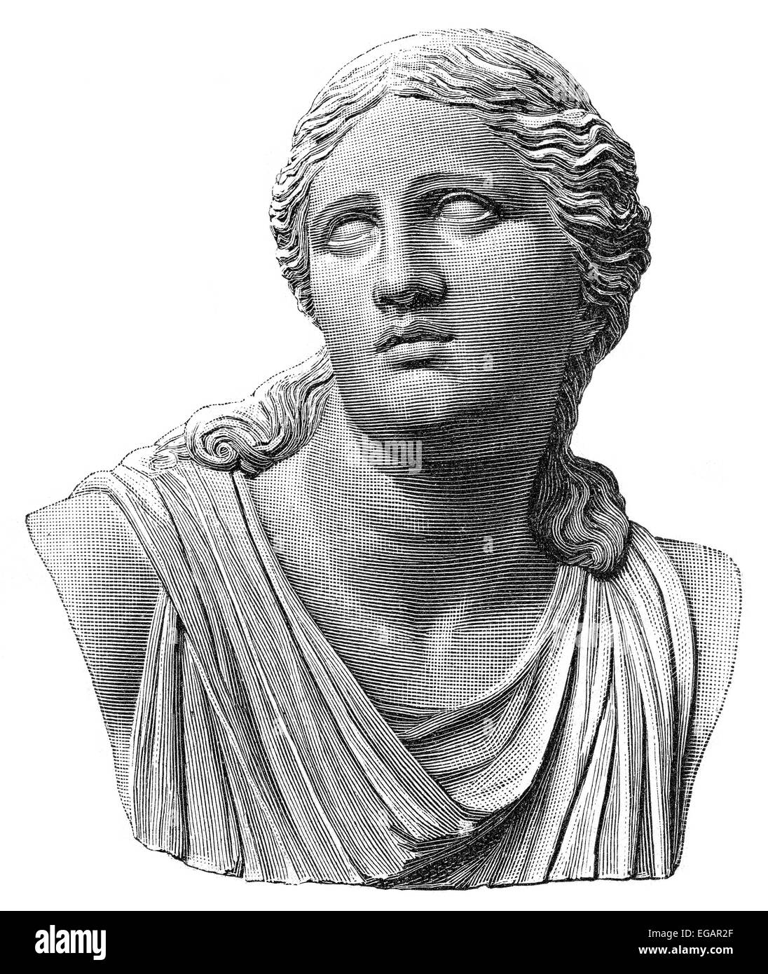 Niobe, a daughter of Tantalus and of either Dione, a figure in Greek mythology, Stock Photo