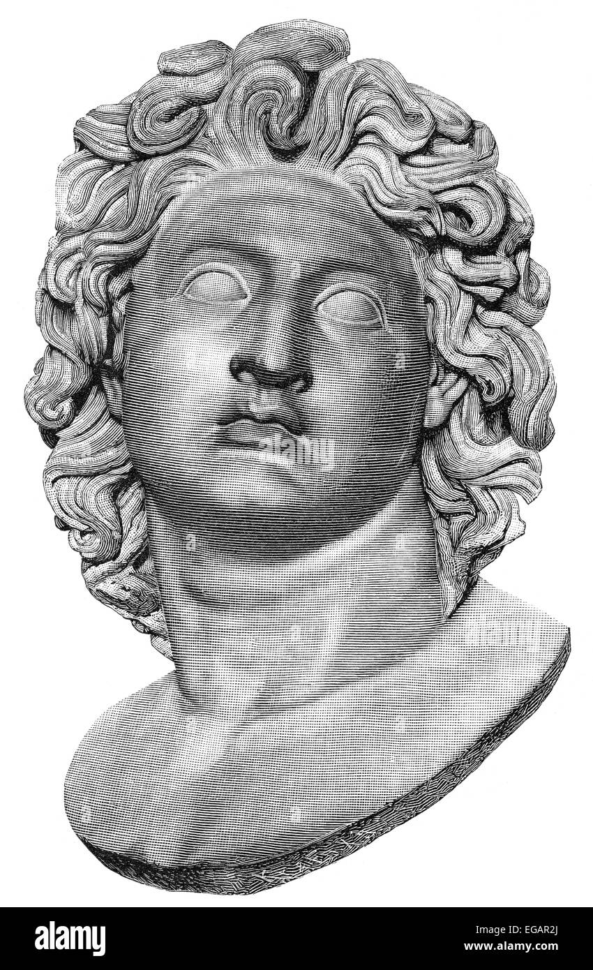 Alexander the Great or Alexander III of Macedon, 356-323 BC, king of Macedon and hegemon of the Corinthian League Stock Photo