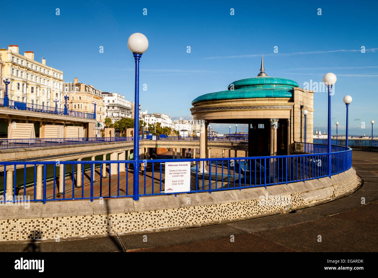 The Bandstand, Eastbourne, Sussex, England - Stock Image