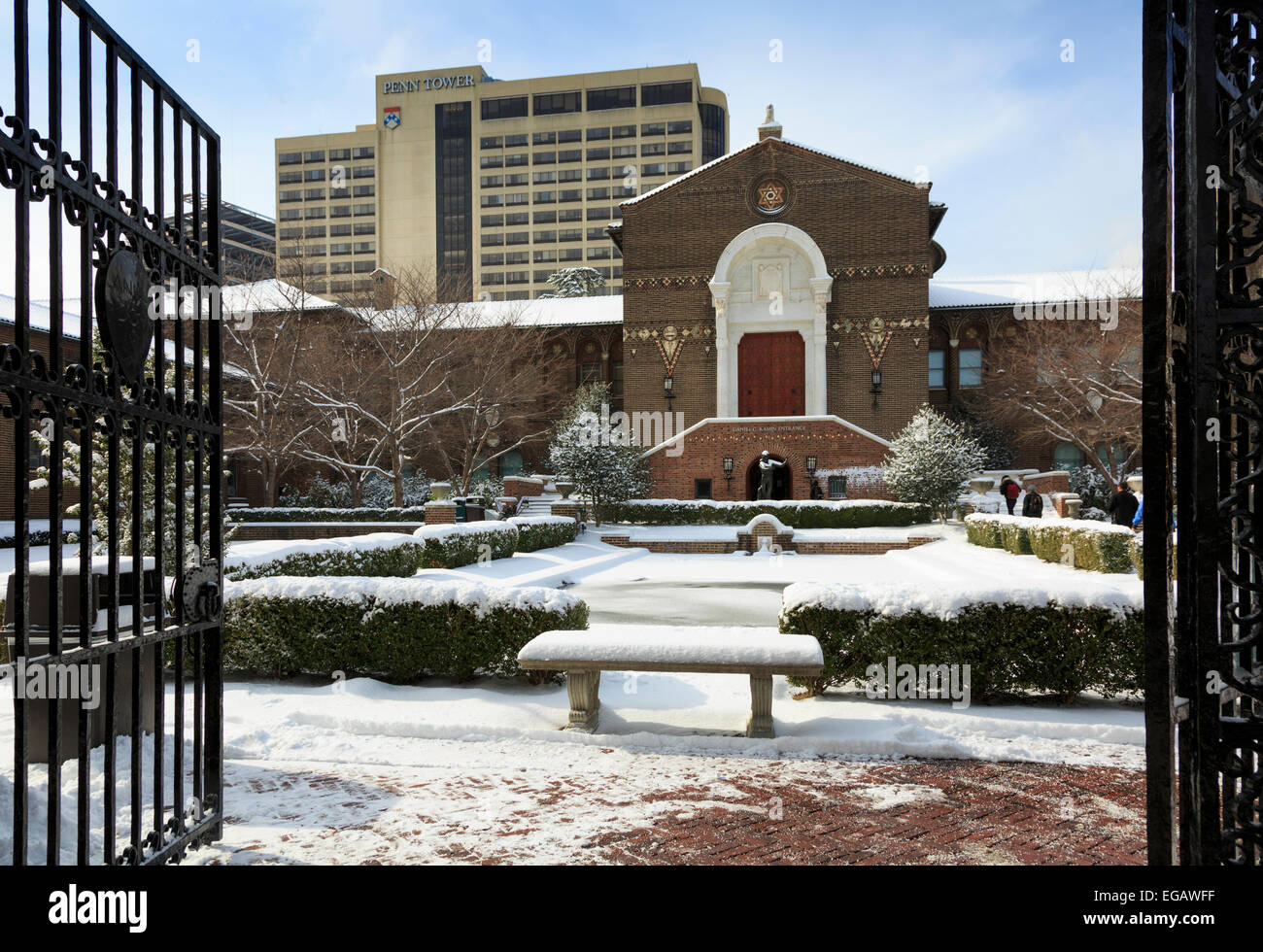 University of Pennsylvania Museum of Archaeology and Anthropology in winter, Philadelphia, Pennsylvania, USA - Stock Image