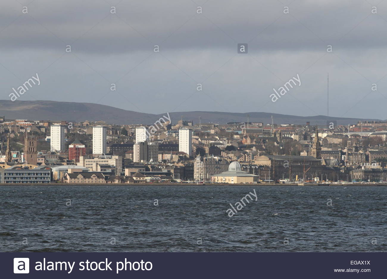 Dundee waterfront including Discovery Point Scotland February 2015 Stock Photo