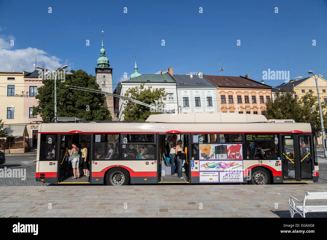 Public transport bus, Jihlava, Czech Republic - Stock Image