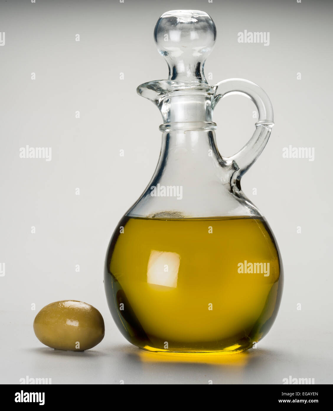 olive oil cruet - Stock Image