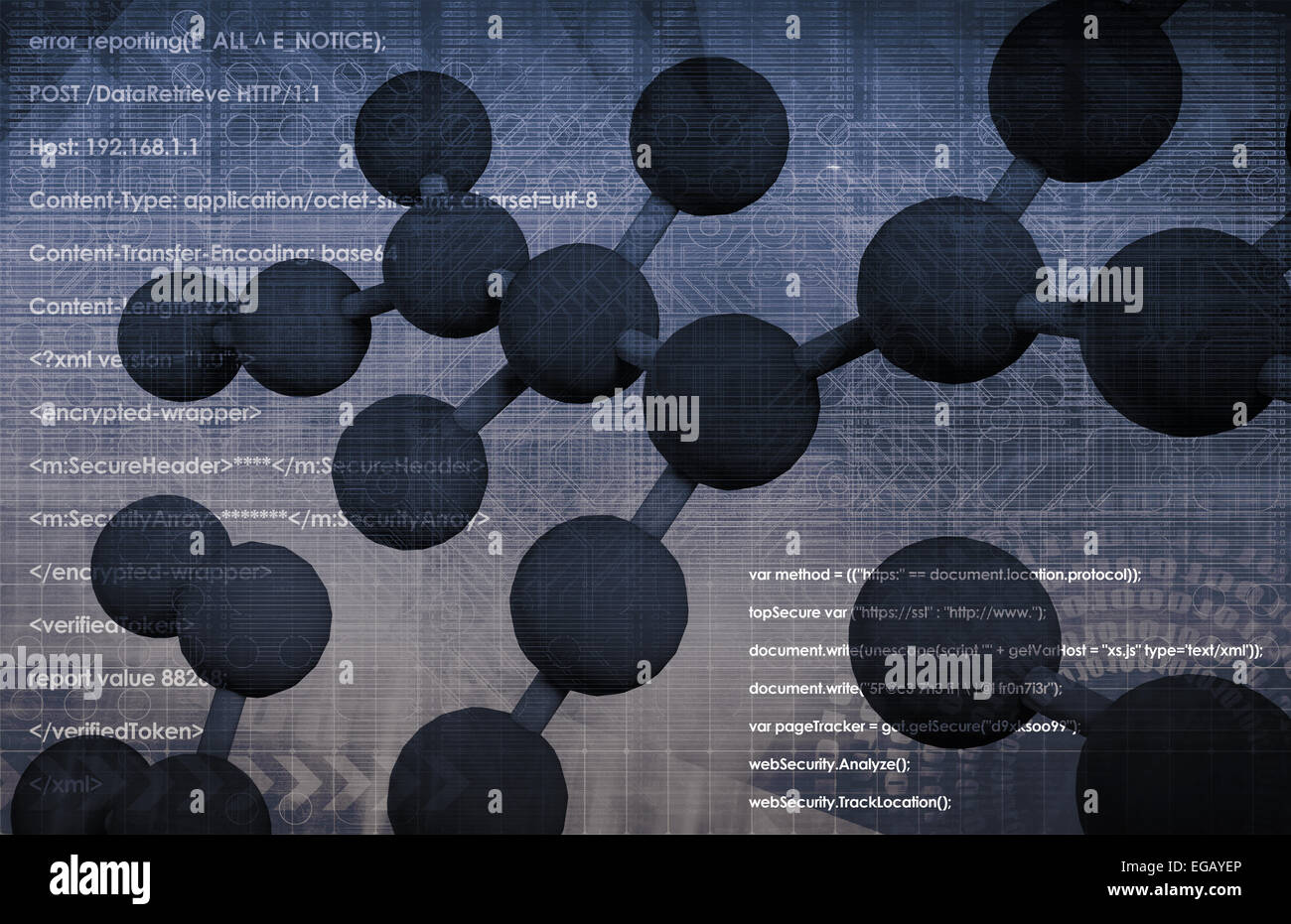 Genome or Genetic Material of an Organism - Stock Image
