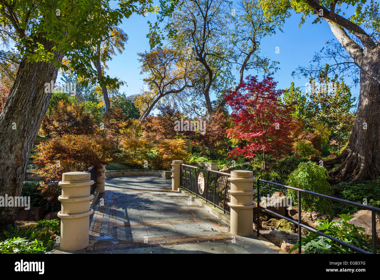 Dallas Arboretum and Botanical Garden in the fall, Texas, USA - Stock Image