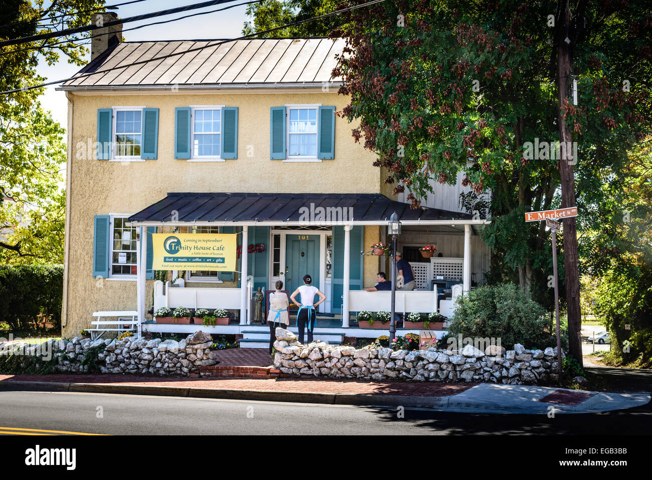 Nonprofit Trinity House Café, George Head House, 101 East Market Street, Leesburg, Virginia - Stock Image