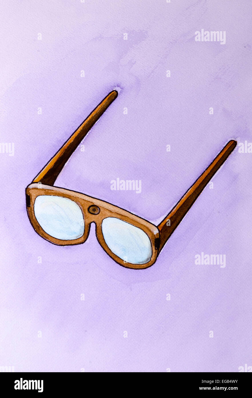 Spy Glasses with camera - Stock Image