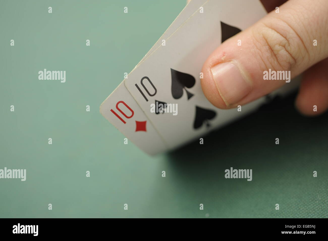 Playing Cards  Pair of Tens - Stock Image
