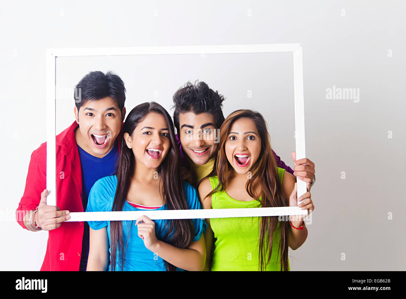 4 indian college friends Frame Photography Stock Photo: 78922211 - Alamy