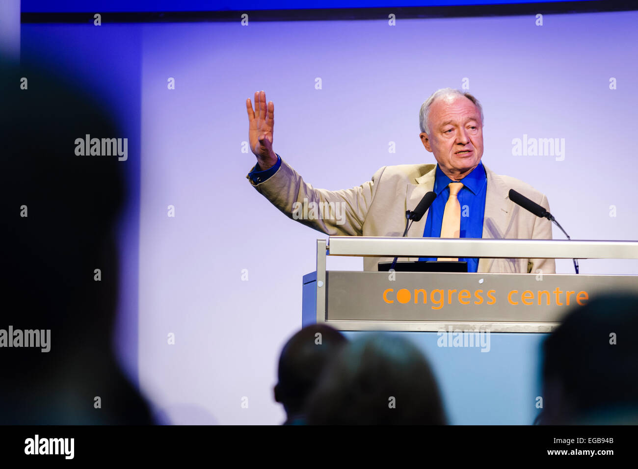 London, UK. 21st Feb, 2015. Ken Livingstone, former London Mayor and member of Labour's National Executive Committee, - Stock Image