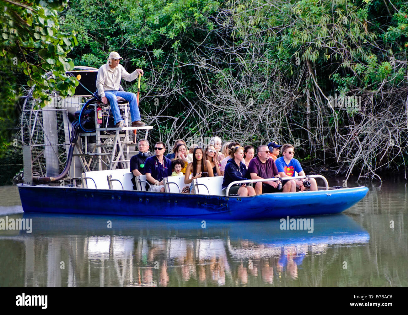 Airboat in Florida Everglades - Stock Image