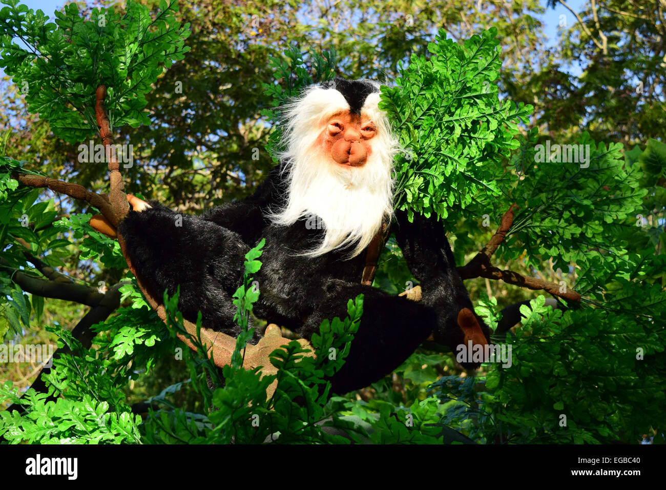 Thermocol Polystyrene Monkey Figure During Onam Festival Procession Float  At Kerala India   Stock Image