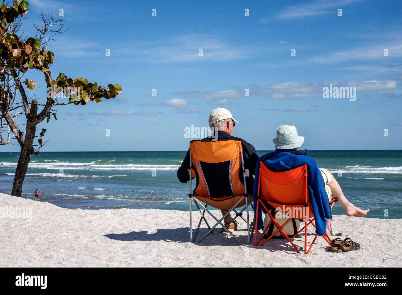 Stuart Florida Hutchinson Island Bathtub Reef Beach senior man woman ...