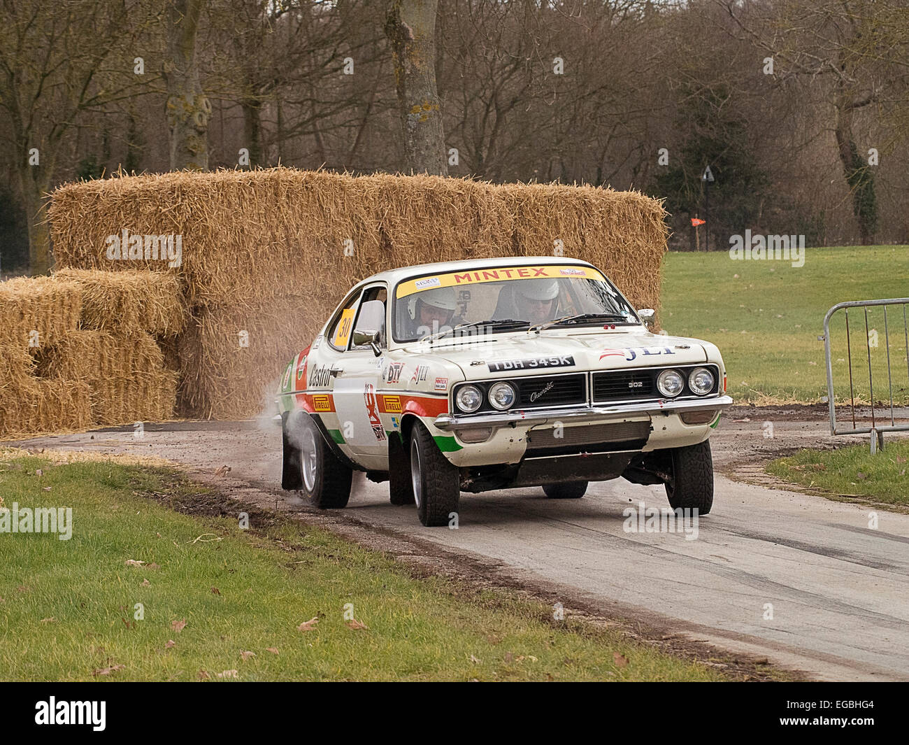 Warwickshire, UK. 21st Feb, 2015. Vauxhall Firenza Rally car on Special stage at Race Retro event 21/02/2015 Credit: - Stock Image