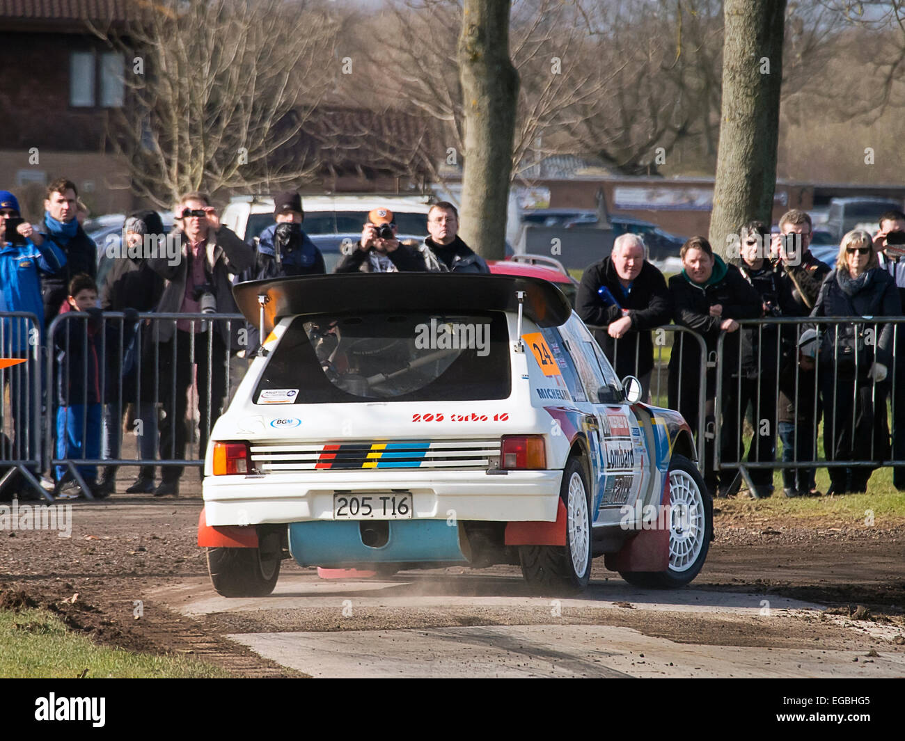 Warwickshire, UK. 21st Feb, 2015. Peugeot T16 Rally car on Race Retro special stage 21/02/2015 Credit:  Martyn Goddard/Alamy - Stock Image