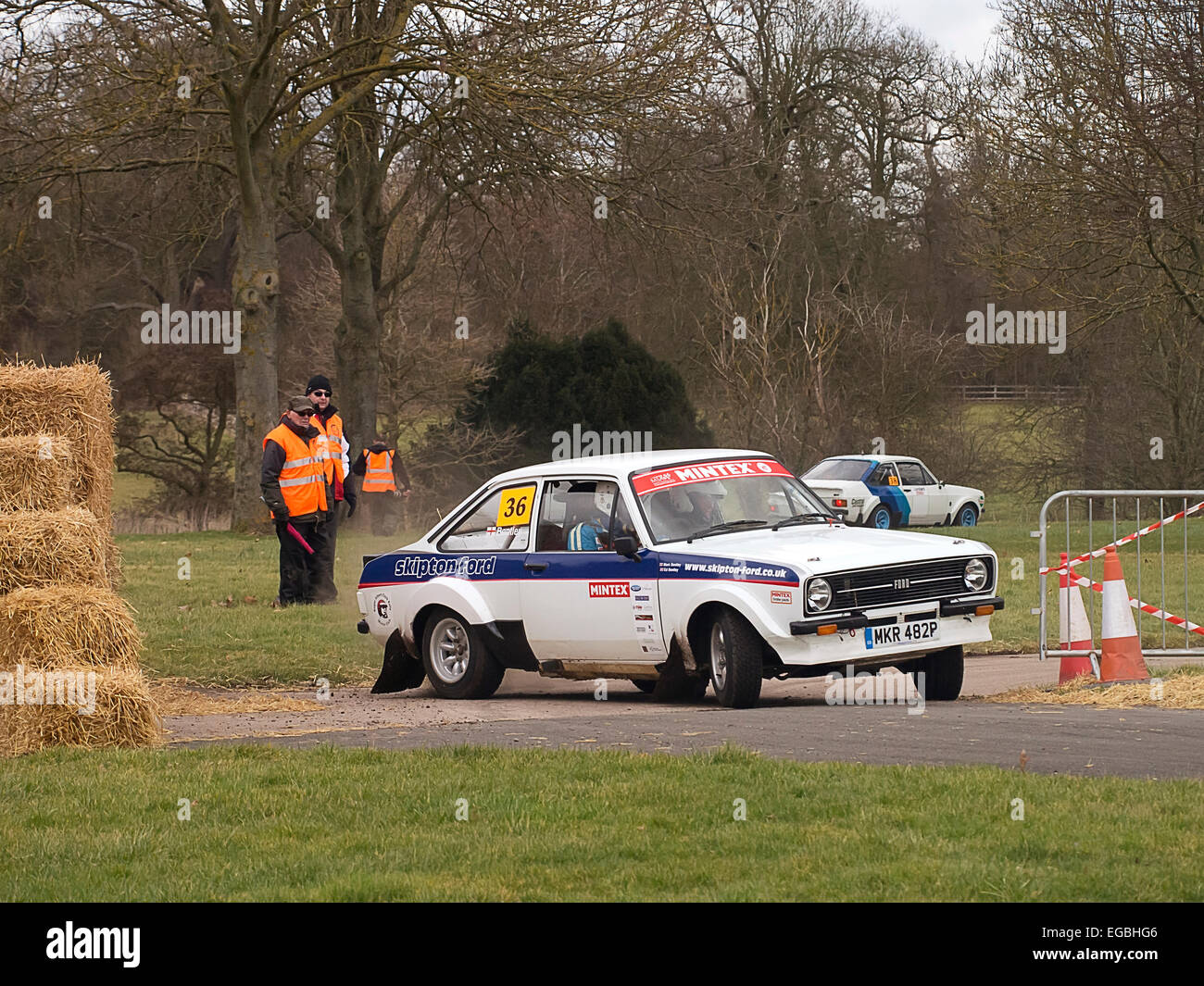 Warwickshire, UK. 21st Feb, 2015. Ford Escort MKII Rally car on Race Retro special stage 21/02/2015 Credit:  Martyn - Stock Image