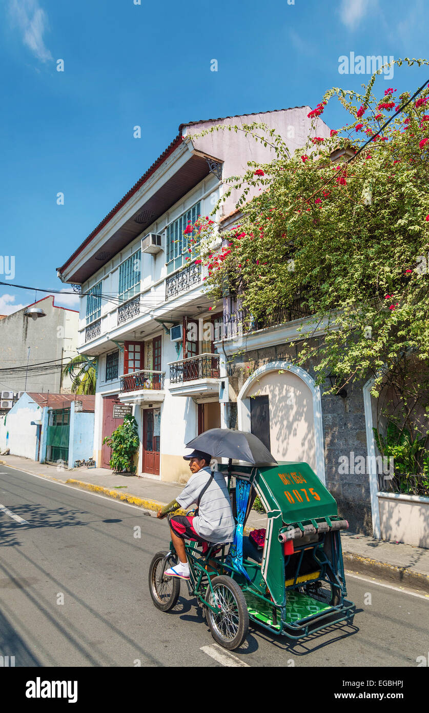 colonial house in intramuros historic old town street of manila philippines Stock Photo