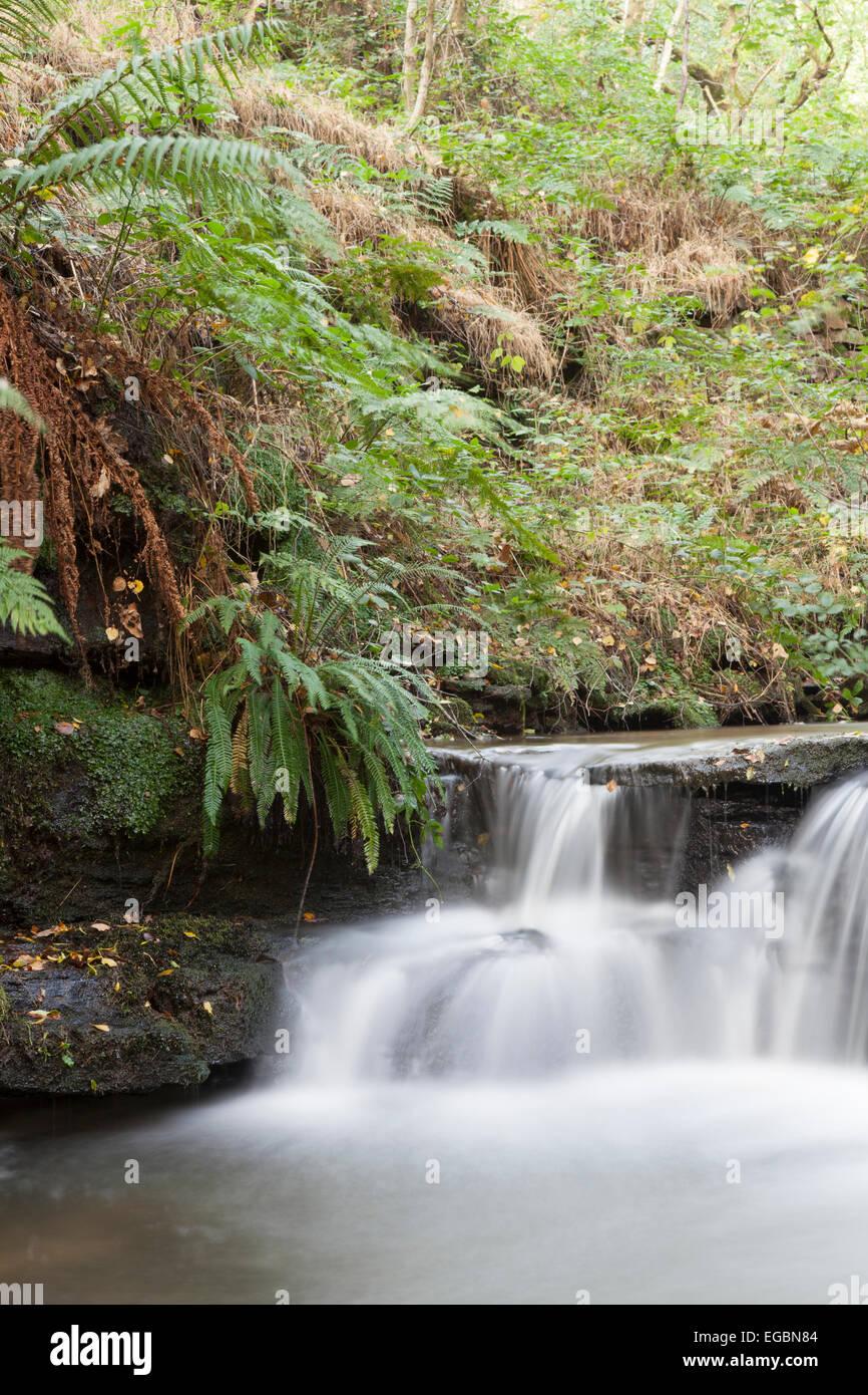 Nature : waterfall, moving water. - Stock Image