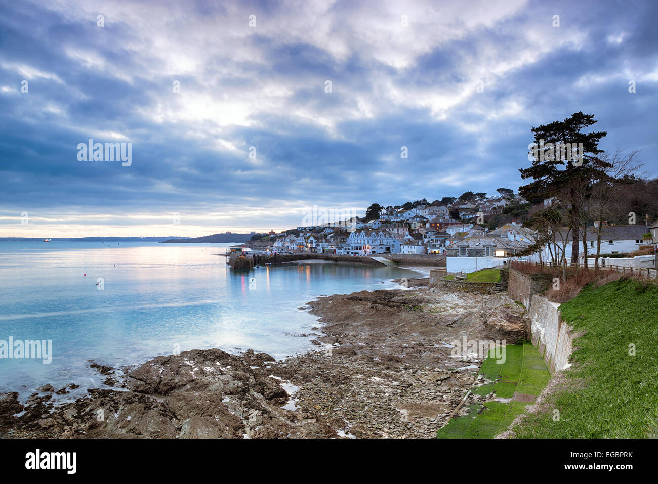 Dusk at St Mawes - Stock Image