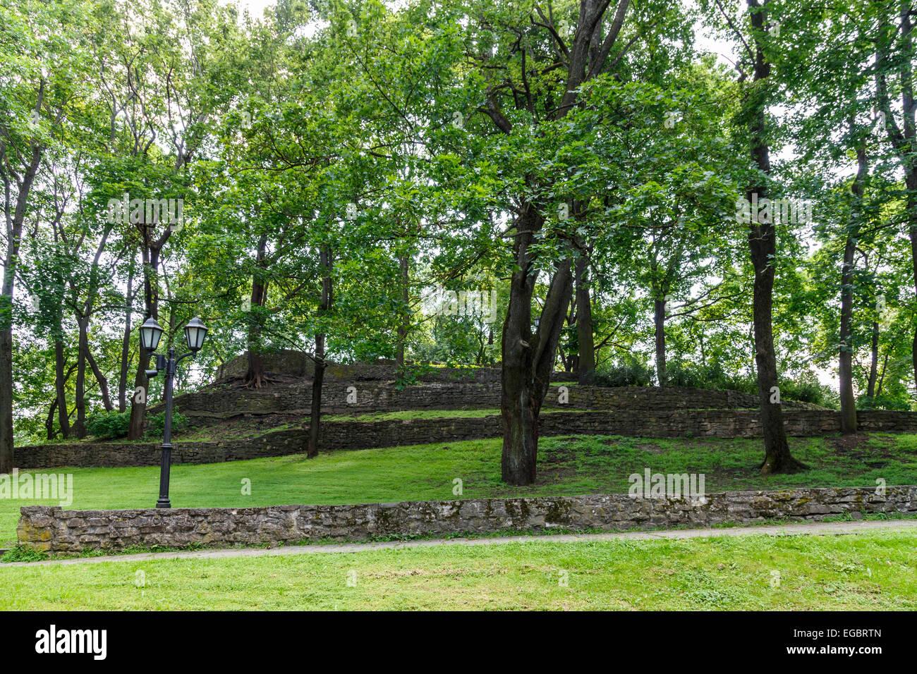 Bastejkalns (Bastion Hill) Park, Riga, Latvia - Stock Image