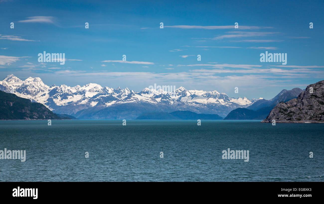 Mountains in Glacier Bay, Alaska, USA, North America. - Stock Image