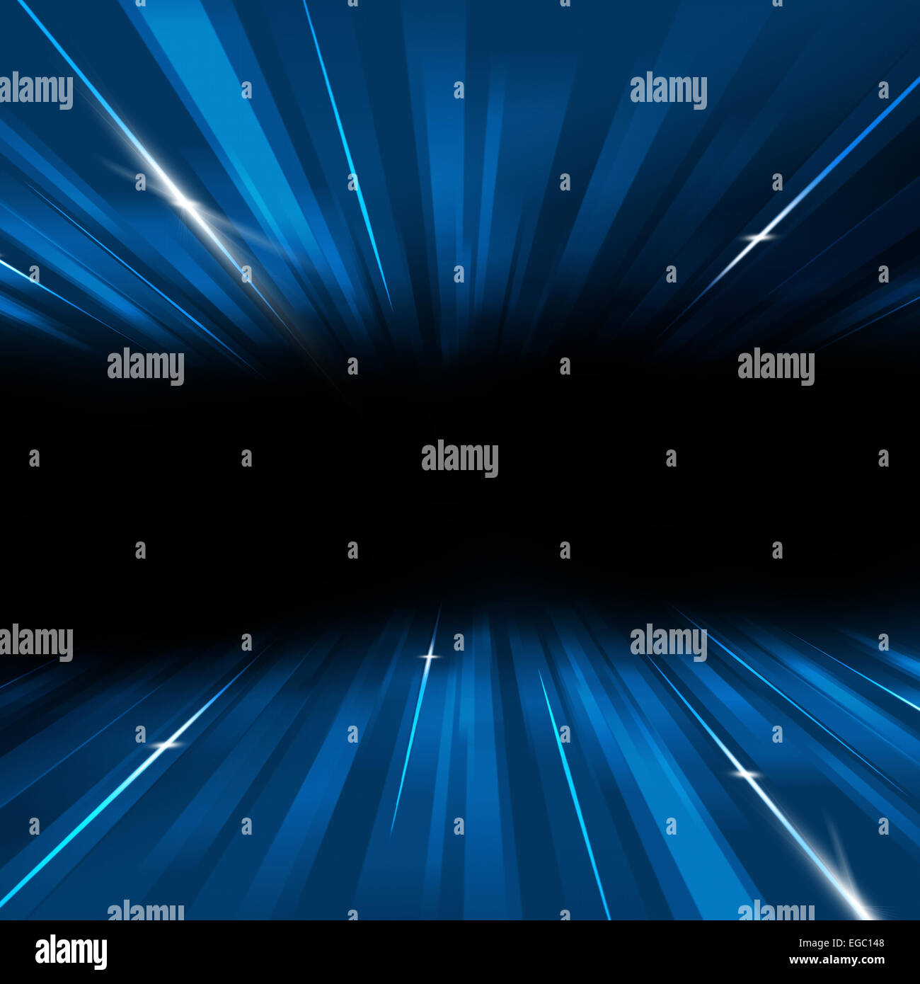 abstract technology business motion lines and lights blue background Stock Photo