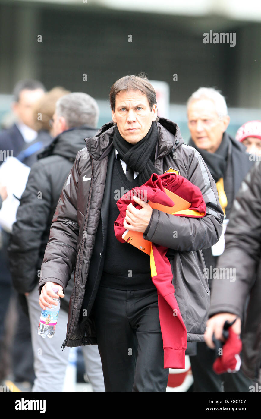 Verona, Italy. 22nd February, 2015. Rudi Garcia Roma's head coach during the Italian Serie A football match - Stock Image