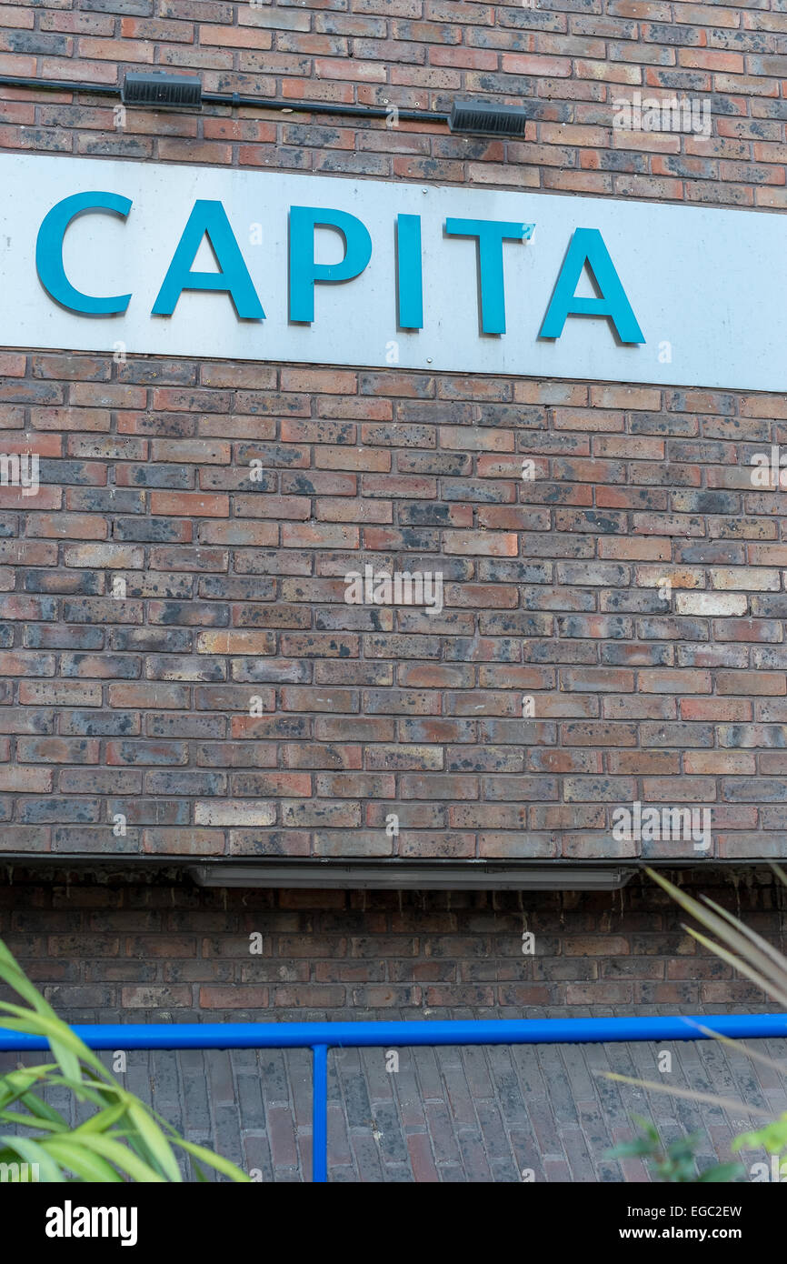 Pension fund Capita SIP service Head Office Castle Street Salisbury - Stock Image